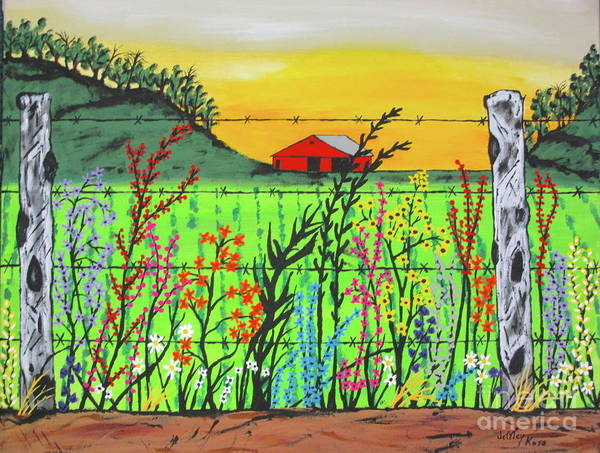 Wall Art - Painting - Wildflowers On The Farm by Jeffrey Koss