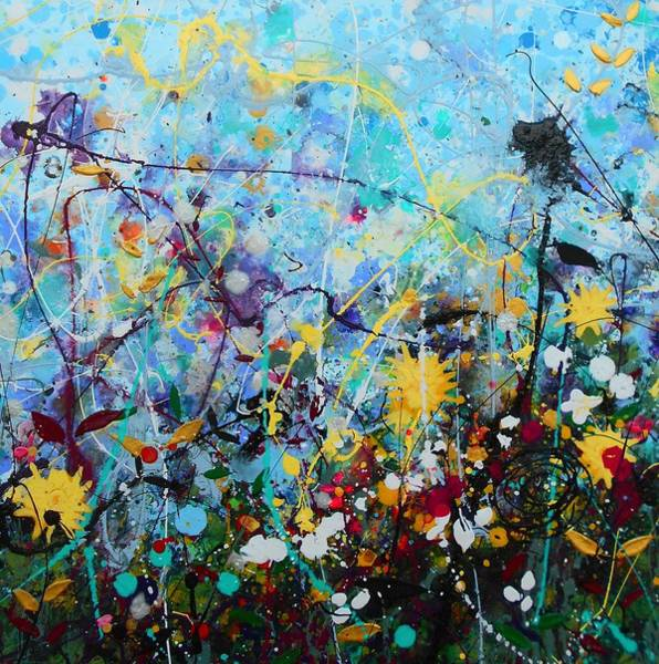 Wall Art - Painting - Wildflowers Panel 2 by Angie Wright
