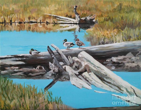 Wall Art - Painting - Wildlife Refuge Mallards by Suzanne Schaefer