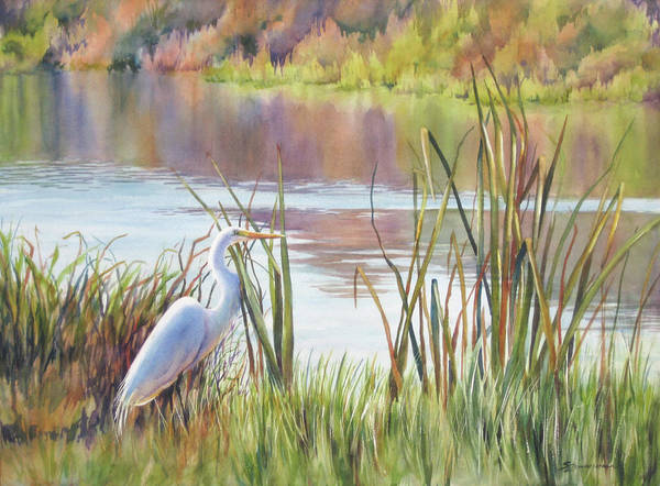 Egrets Wall Art - Painting - Wildlife Refuge by Sue Zimmermann