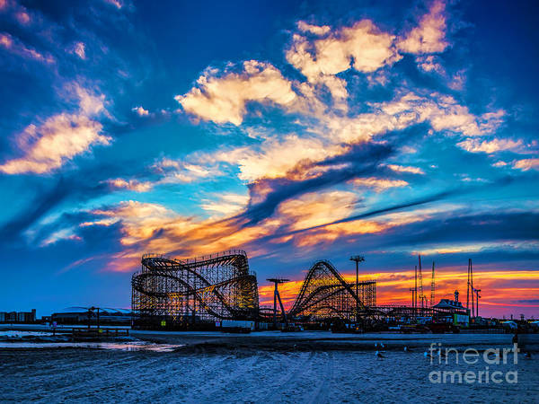 Wildwood Beach Sunset Art Print
