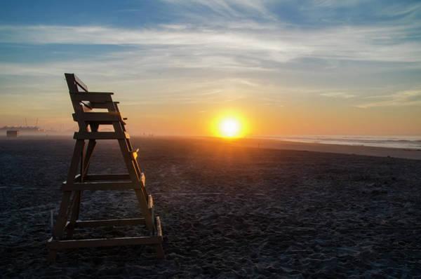 Lifeguard Digital Art - Wildwood New Jersey - Peaceful Morning by Bill Cannon