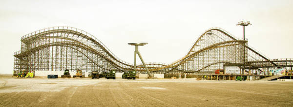 Photograph - Wildwood Roller Coaster Panorama by Bill Cannon