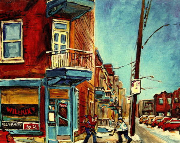 Painting - Wilensky's Corner Fairmount And Clark by Carole Spandau