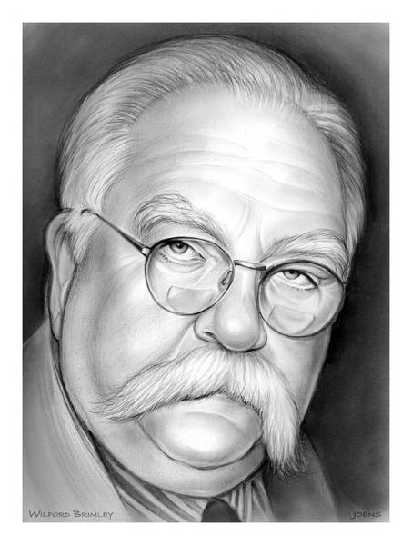 Television Drawing - Wilford Brimley by Greg Joens