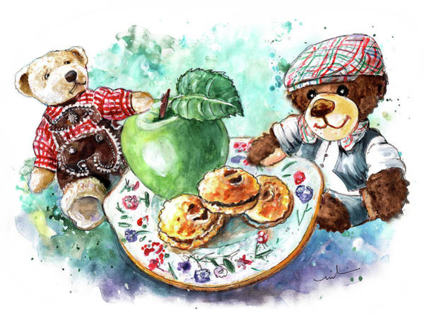 Painting -  Wilfra Cakes For Truffle Mcfurry And Bua by Miki De Goodaboom