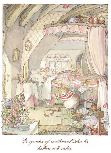 Wall Art - Drawing - Wilfred's Birthday Morning by Brambly Hedge