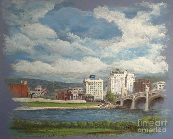 Painting - Wilkes-barre And River by Christina Verdgeline