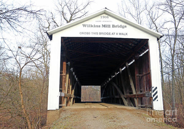 Rockville Photograph - Wilkins Mill Covered Bridge Indiana by Steve Gass