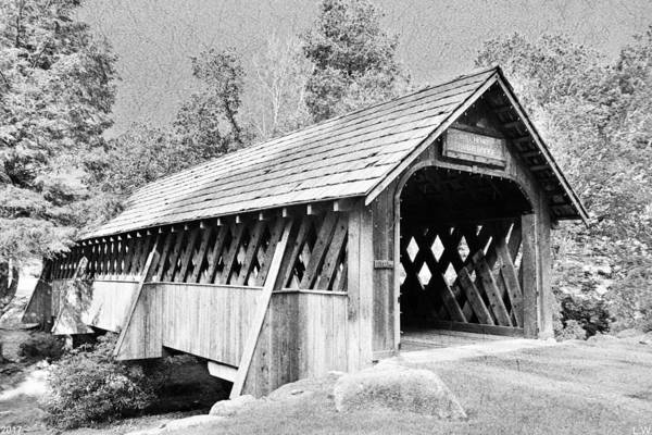 Photograph - Will Henry Stevens Covered Bridge Black And White by Lisa Wooten