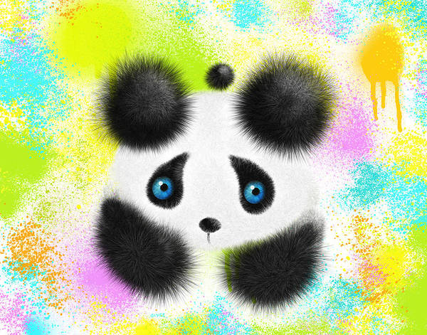 Panda Drawing Painting - Will I Fit In by Oiyee At Oystudio