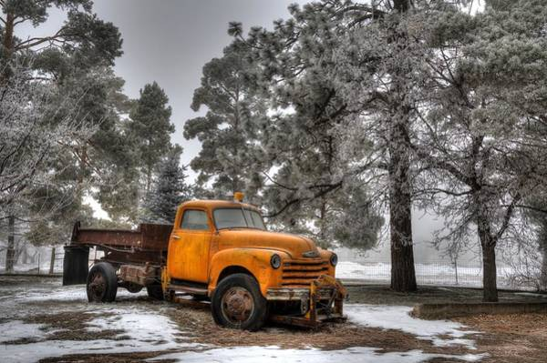 Dump Truck Photograph - Will Plow For Snow by Michael Morse
