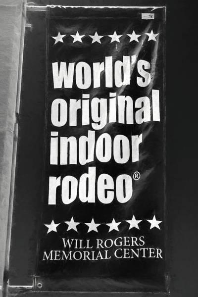 Will Rogers Rodeo Bw Art Print