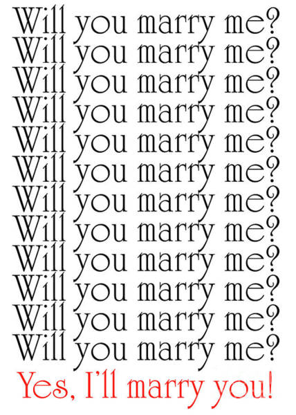 Photograph - Will You Marry Me Yes I'll Marry You by Andee Design