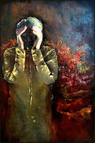 Tile Wall Art - Painting - Willful Amnesia by Shadia Derbyshire