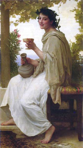 Painting - William Adolphe Bouguereau 1825  1905    The Sisters by Artistic Panda