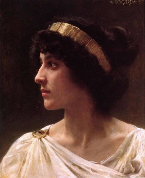 Painting - William Adolphe Bouguereau Irene Ca 1897 by Artistic Panda