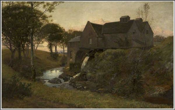 Painting - William Bright Morris 1844  1912   An Old Watermill, Near Campbelltown   1878 by Artistic Panda
