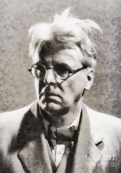 Poetry Painting - William Butler Yeats, Literary Legend by John Springfield