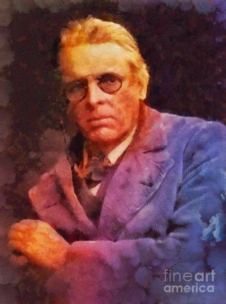 Poetry Painting - William Butler Yeats, Literary Legend by Sarah Kirk