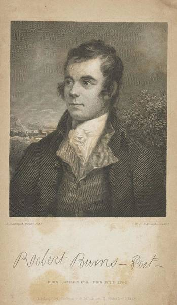 Painting - William C  Edwards,  Robert Burns, 1759 - 1796. Poet by Artistic Panda