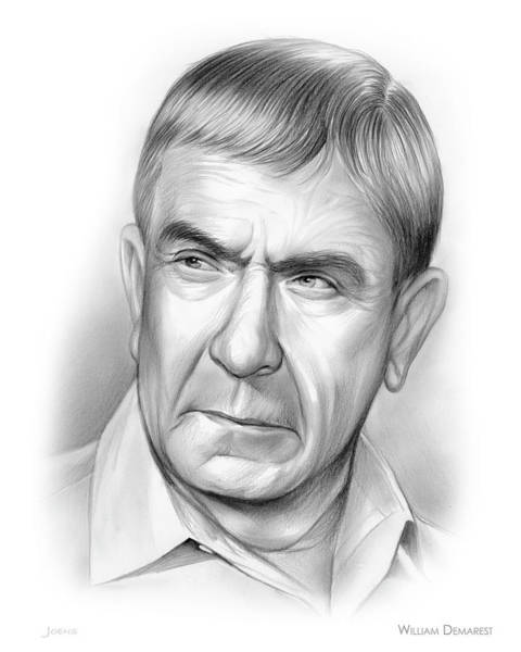 Drawing - William Demarest by Greg Joens