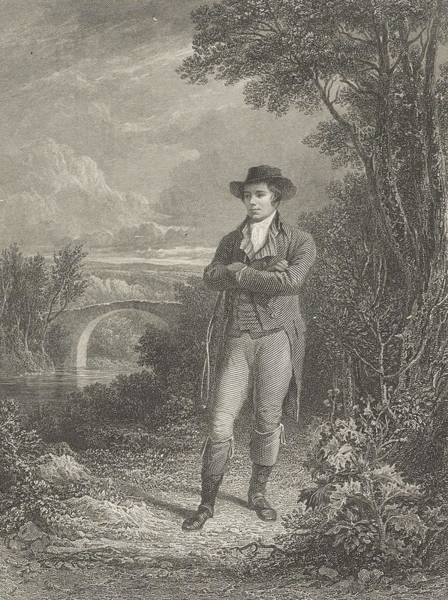 Painting - William Forrest  Robert Burns 1759  1796. Poet by Artistic Panda