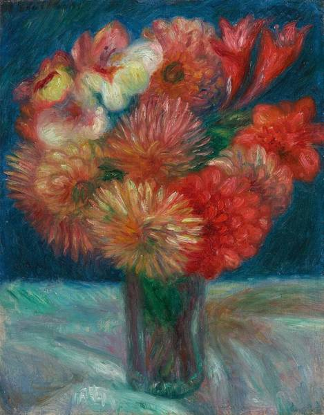 Painting - William Glackens 1870  1938  Vase Of Flowers by Artistic Panda