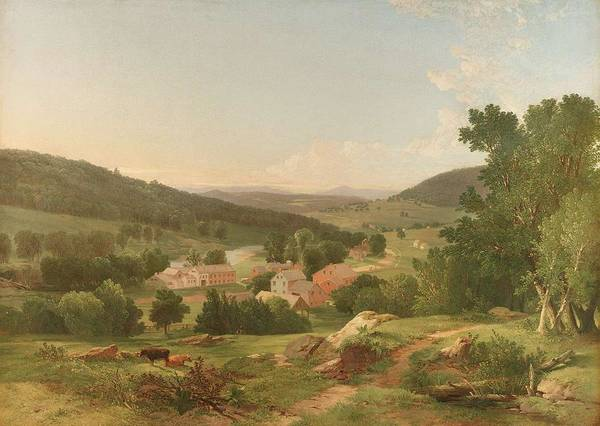 Painting - William Hart  1823  1894  Early Landscape, 1849 by Artistic Panda