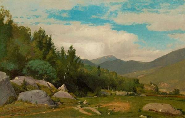 Painting - William Hart 1823  1894  Scene In The White Mountains by Artistic Panda