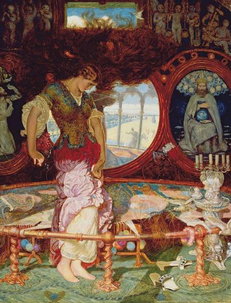 Painting - William Holman Hunt   The Lady Of Shalott, About 1886-1905 by Artistic Panda