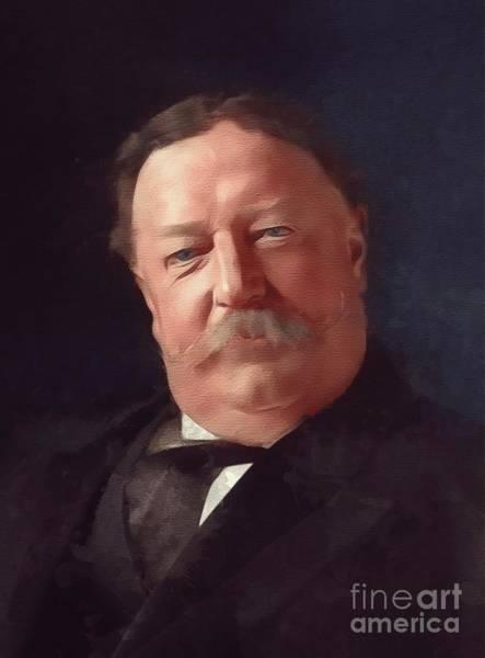 Howard Painting - William Howard Taft, President by Mary Bassett