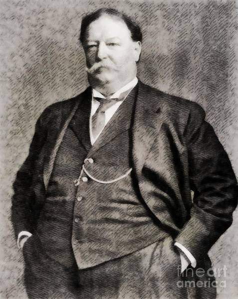 Poetry Painting - William Howard Taft, President Of The United States By John Springfield by John Springfield