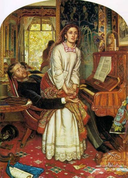 Painting - William Hunt Awakening Conscience1853 by Artistic Panda