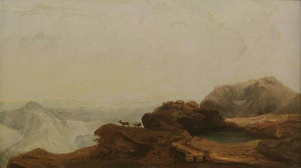 Painting - William Jacob Hays Sr. 1830  1875  Dakota Badlands, 1860 by Artistic Panda