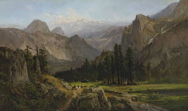 Painting - William Keith 1839 - 1911 Yosemite Valley by Artistic Panda