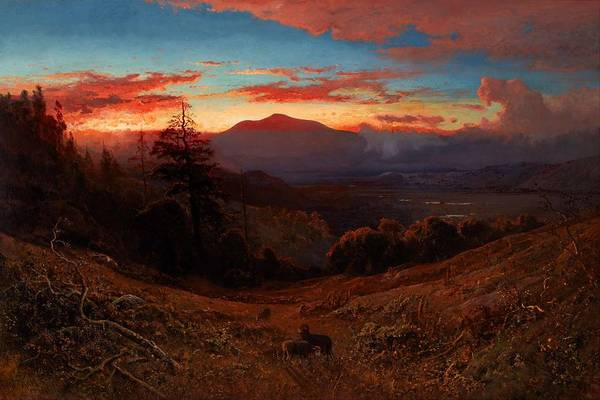 Painting - William  Keith    Sunset  On  Mount  Diablo   Marin  Sunset     Google  Art  Project by Artistic Panda
