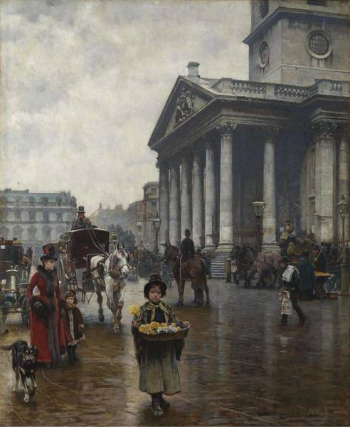 Painting - William Logsdail   St Martin-in-the-fields 1888 by Artistic Panda