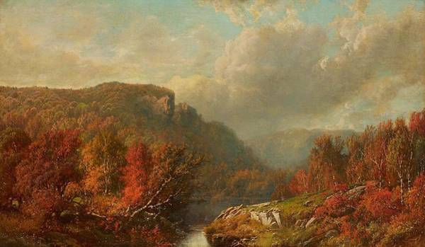 Painting - William Mason Brown 1828  1898 October In The Blue Mountains by Artistic Panda