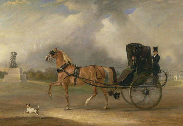 Wall Art - Painting - William Massey-stanley Driving His Cabriolet In Hyde Park by John Ferneley