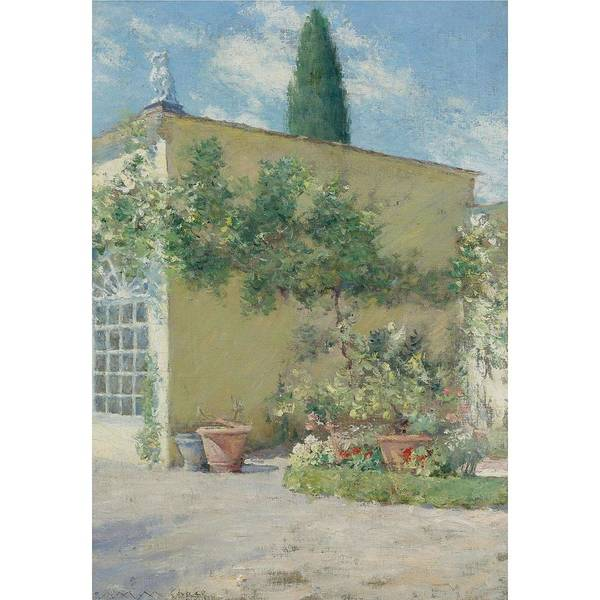 Painting - William Merritt Chase 1849 1916 Orangerie Of The Chase Villa In Florence Estimate 250 000   350,000  by Artistic Panda