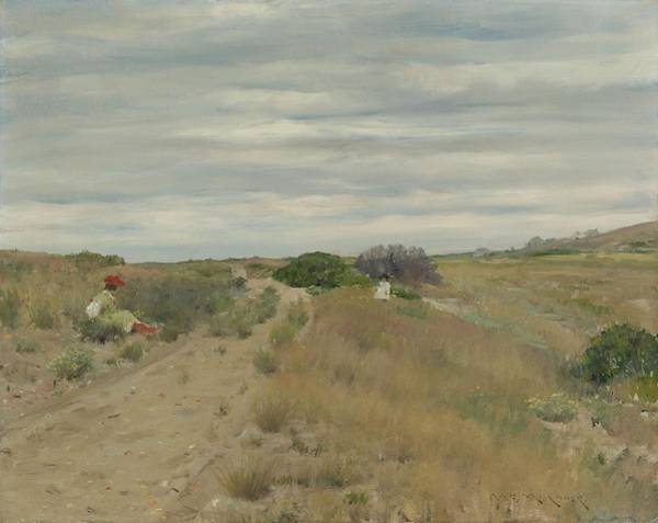 Painting - William Merritt Chase 1849 - 1916 The Old Sand Road by Artistic Panda