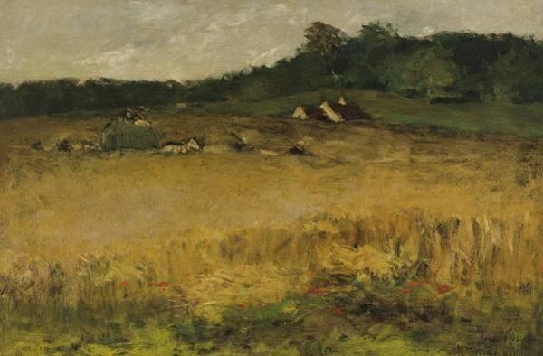 Painting - William Merritt Chase 1849 - 1916 Wheat Field by Artistic Panda