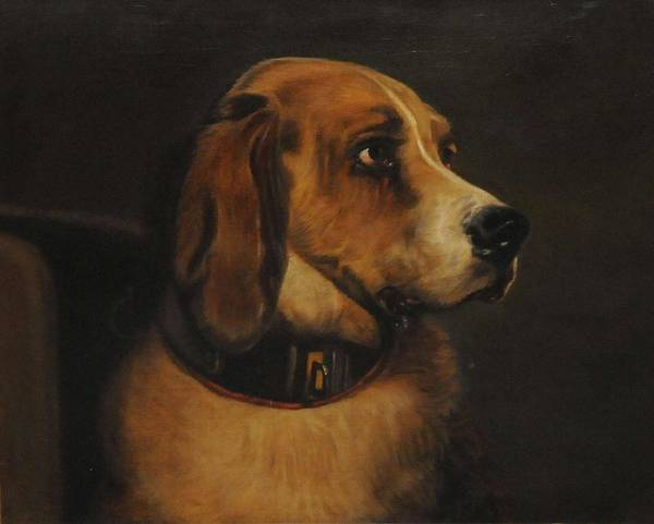 Painting - William Mitchell Of Maryport, After Sir Edwin Landseer., Portrait Of A Dog by Artistic Panda