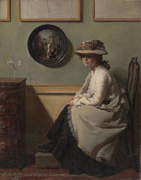 Painting - William Orpen   The Mirror 1900 by Artistic Panda