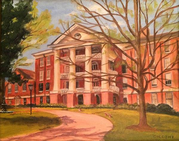 Painting - William Peace University by Jill Ciccone Pike