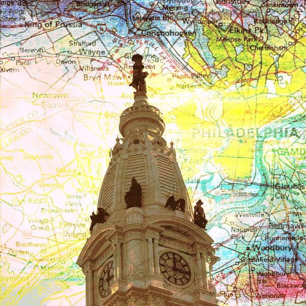 Philadelphia Phillies Digital Art - William Penn City Hall V3 by Brandi Fitzgerald