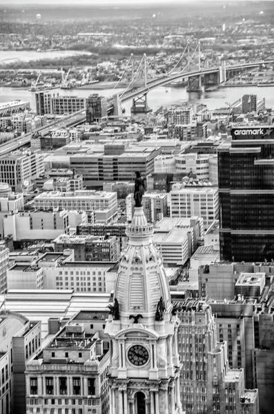 Photograph - William Penn From Above In Black And White by Bill Cannon