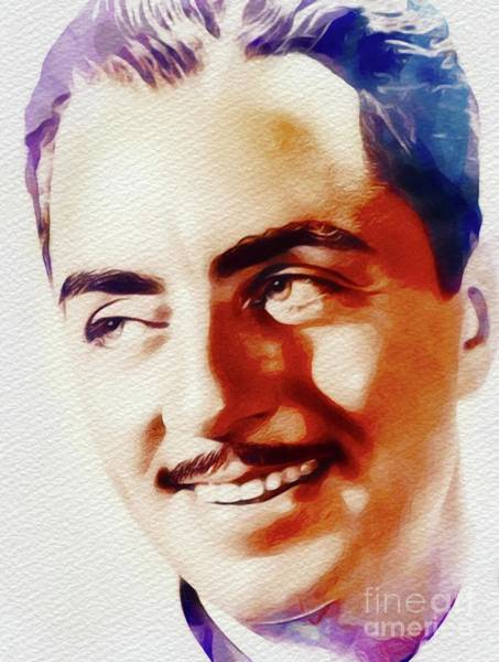 Wall Art - Painting - William Powell, Movie Star by John Springfield
