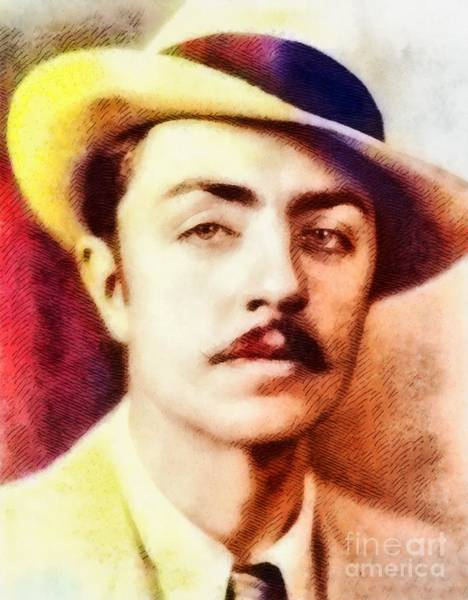 Stardom Painting - William Powell, Vintage Hollywood Legend by John Springfield
